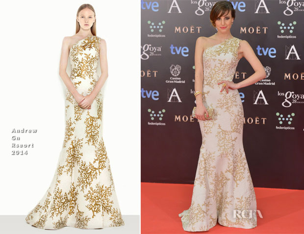 Natalia de Molina In Andrew Gn - Goya Cinema Awards 2014