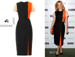 Natalie Dormer's Roksanda Ilincic 'Darsham' Textured-Twill Dress