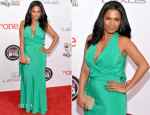 Nia Long In Nicole Miller - NAACP Image Awards 2014