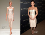 Olivia Munn In Bibhu Mohapatra - BVLGARI Presents 'Decades Of Glamour'
