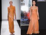 Olivia Munn In Carolina Herrera - 'RoboCop' LA Premiere