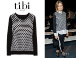 Olivia Palermo's Tibi Intarsia Cotton Sweater