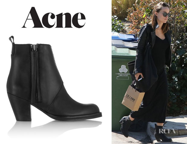 Olivia Wilde's Acne 'Pistol' Ankle Boots