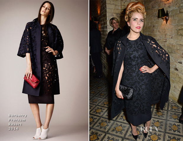 Paloma Faith In Burberry Prorsum - Harvey Weinstein's Pre-BAFTA Dinner