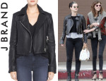 Pixie Geldof's J Brand 'Aiah' Leather Jacket