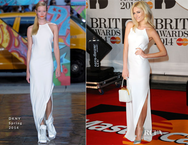Pixie Lott In DKNY - Brit Awards 2014