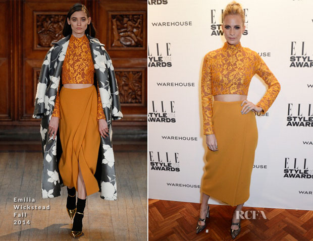 Poppy Delevigne In Emilia Wickstead - Elle Style Awards 2014