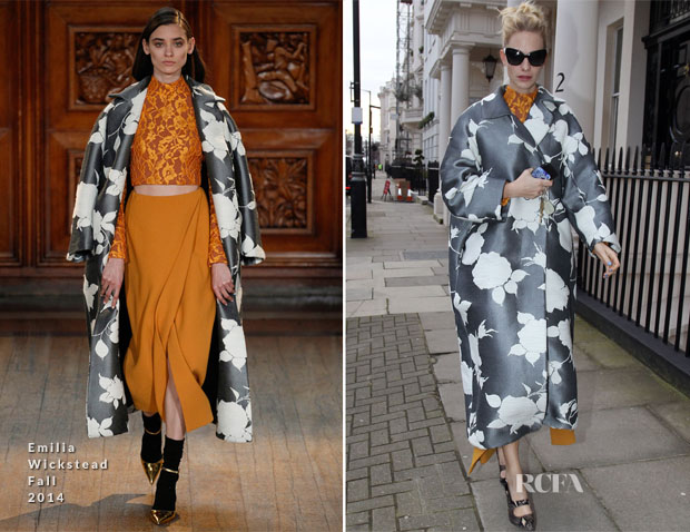 Poppy Delevingne In Emilia Wickstead - Out In London