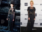 Poppy Delevingne In Louis Vuitton - 2014 amfAR New York Gala