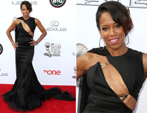 Regina King In Michael Costello - NAACP Image Awards 2014