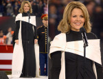 Renée Fleming  In Vera Wang - Pepsi Super Bowl XLVIII Pregame Show