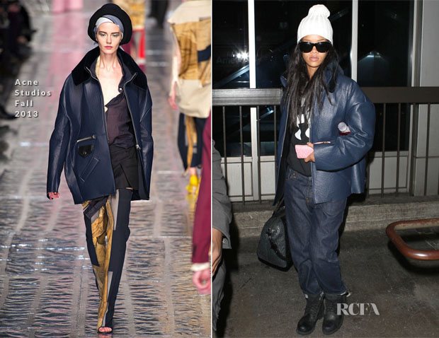 Rihanna In Acne Studios - LAX