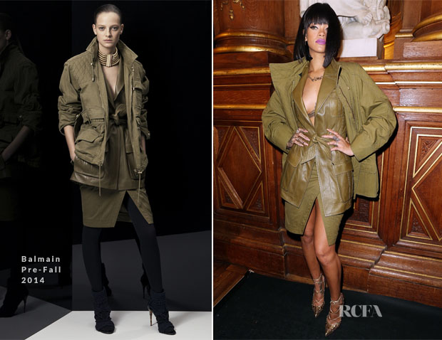 Rihanna In Balmain - Front Row @ Balmain Fall 2014
