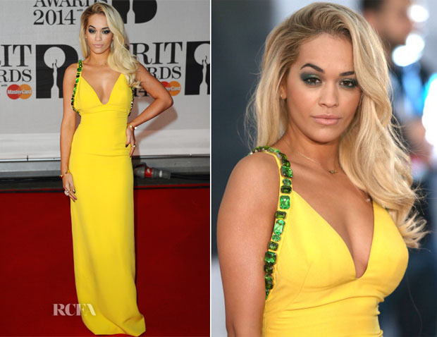 Rita Ora In Prada - Brit Awards 2014