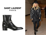 Rita Ora's Saint Laurent 'Wyatt' Leather Chained Boots