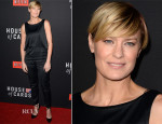 Robin Wright In Kate Spade Saturday - 'House Of Cards' Season 2 Screening