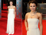 Samantha Barks In Calvin Klein Collection - BAFTAs 2014
