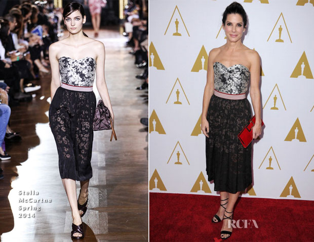 Sandra Bullock In Stella McCartney - 86th Academy Awards Nominees Luncheon