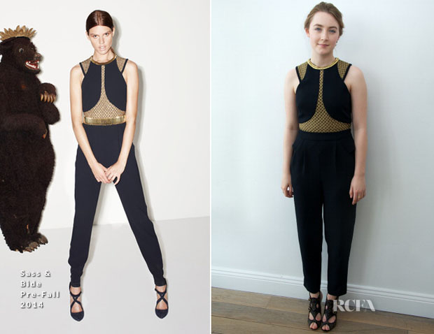 Saoirse Ronan In Sass & Bide - 'The Grand Budapest Hotel' New York Press Conference