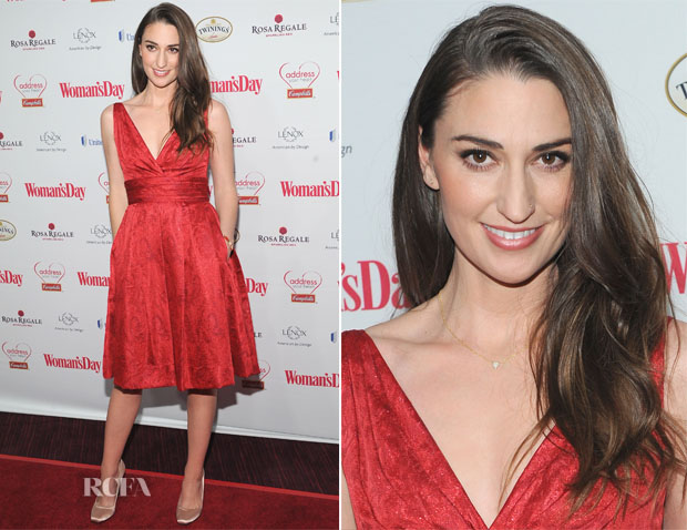 Sara Bareilles In Theia - Woman's Day Red Dress Awards