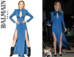 Sarah Harding's Balmain Jersey Long Dress