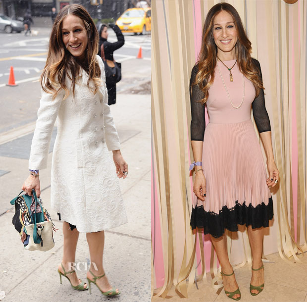Sarah Jessica Parker In Valentino & Dolce & Gabbana - SJP Collection Pop Up Shop Opening