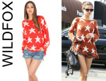 Selena Gomez' Wildfox 'Seeing Stars' Loose Knit Sweater