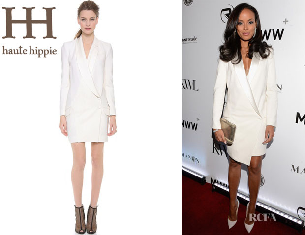 Selita Ebanks' Haute Hippie Sexy Tuxedo Dress