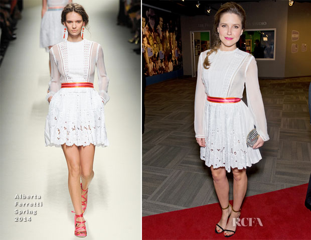 Sophia Bush In Alberta Ferretti - 'Chigaco PD' and 'Chigaco Fire' Photocall