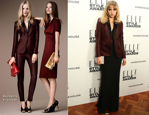 Suki Waterhouse In Burberry Prorsum - Elle Style Awards 2014