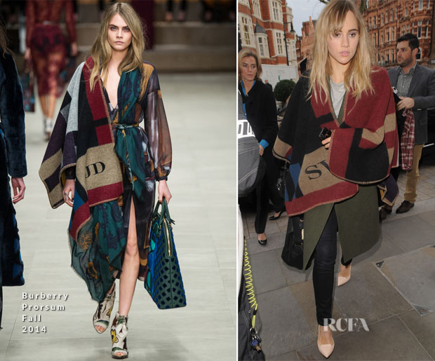 Suki Waterhouse In Burberry Prorsum - Out In London