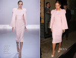 Suki Waterhouse In Ralph & Russo Couture - Pre-BAFTA Party