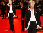 Tilda Swinton In Schiaparelli Couture - 'The Grand Budapest Hotel' Berlinale Film Festival Premiere