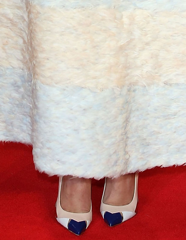 Jessica Brown Findlay in Christian Dior Couture with Christian Louboutin shoes