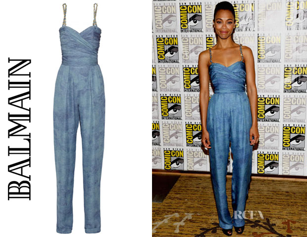 Zoe-Saldana-In-Balmain-Guardians-of-the-Galaxy-Press-Line-Comic-Con