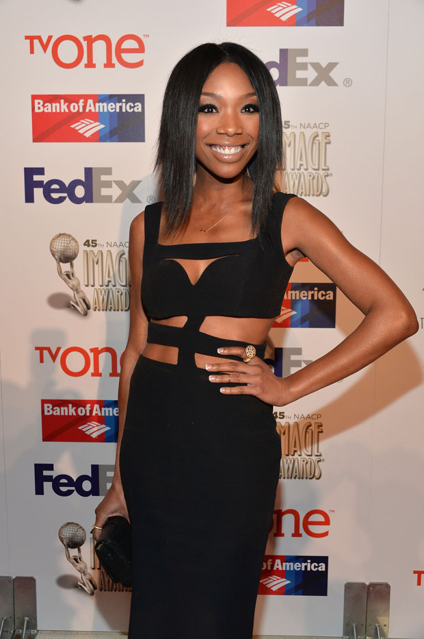 Brandy Norwood in Alexander McQueen