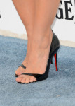 Kristen Bell's  Christian Louboutin 'Toboggan' peep-toe sandals