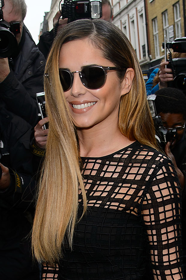 Cheryl Cole in Lela Rose