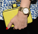 Jessica Alba's Bvlgari watch and clutch