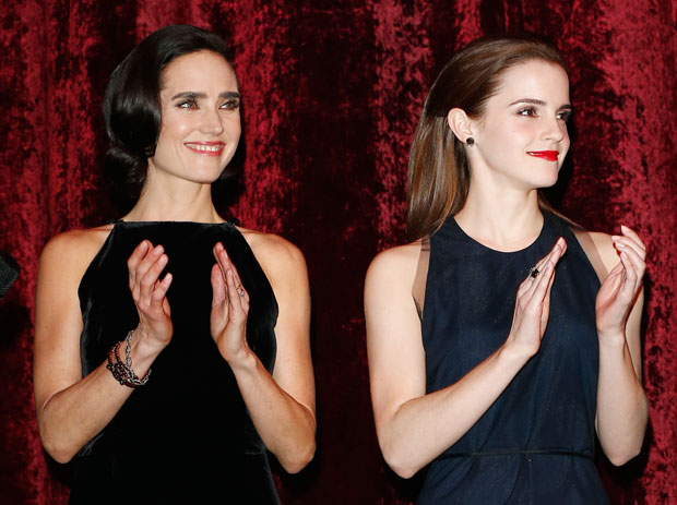 Jennifer Connelly in Lanvin and Emma Watson in Wes Gordon