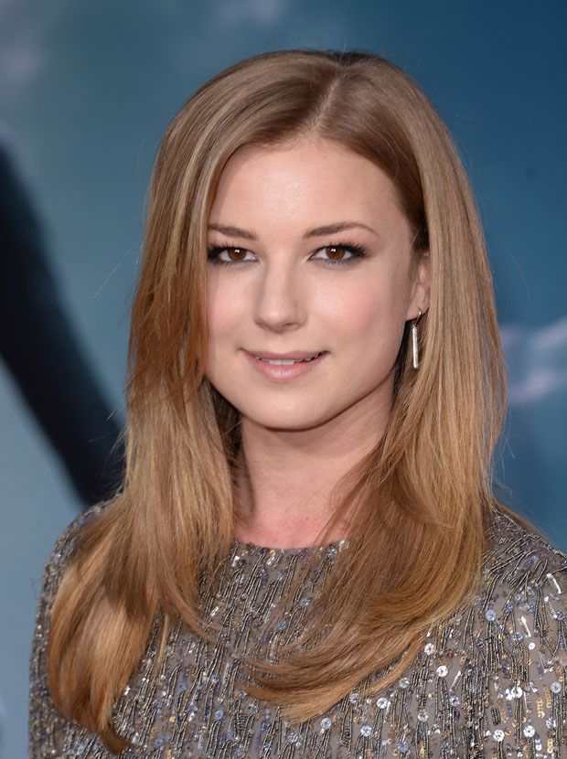 Emily VanCamp in Monique Lhuillier