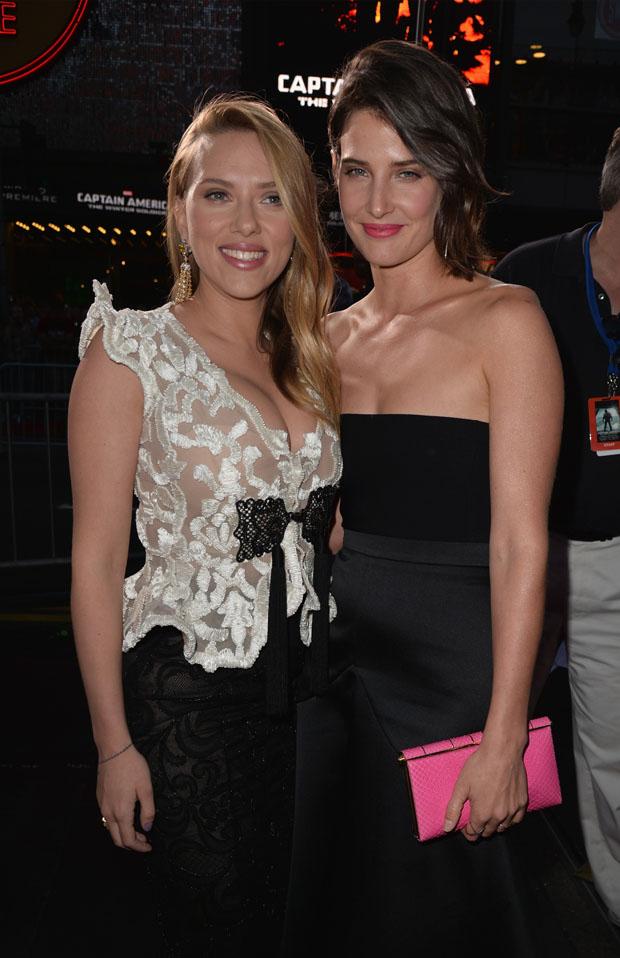 Scarlett Johansson And Cobie Smulders Captain America