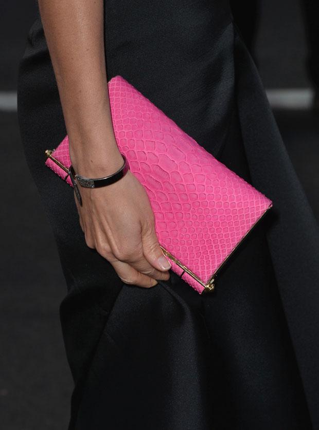 Cobie Smulders' Zagliani 'Faye' python clutch