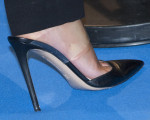 Emma Watson's Gianvito Rossi leather and PVC pumps
