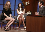 Behati Prinsloo In Balenciaga & Alessandra Ambrosio In Camilla & Marc - Late Night With Seth Meyers