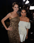 Shailene Woodley in Elie Saab Couture and Zoe Kravitz in Balenciaga