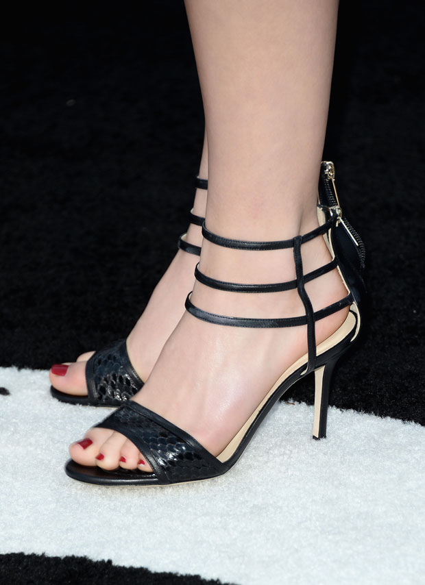 Kiernan Shipka's Jimmy Choo 'Tolka' Leather and Stingray Sandals