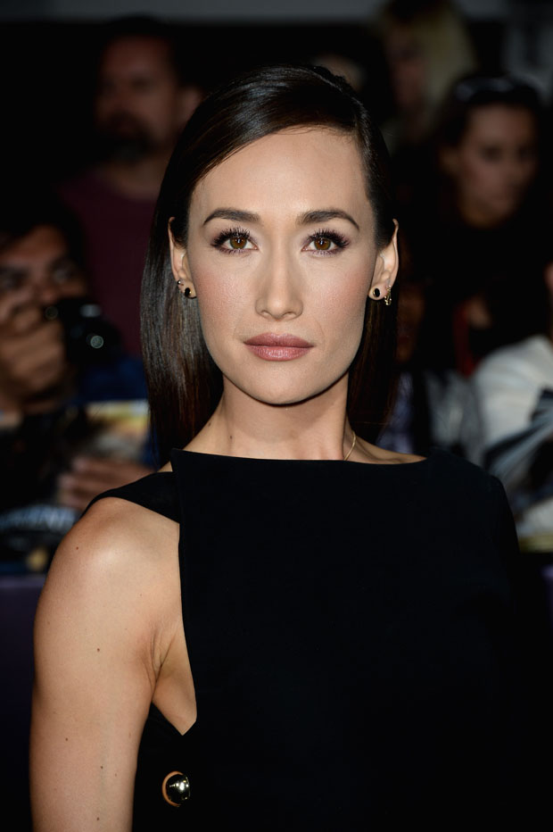 Maggie Q in Anthony Vaccarello