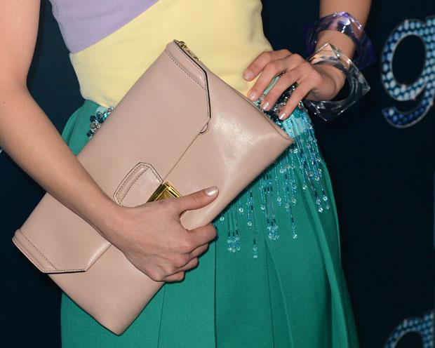 Dianna Agron's Miu Miu clutch