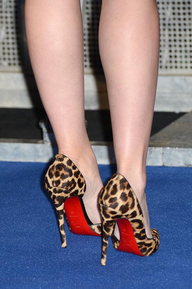 Scarlett Johansson' Christian Louboutin animal print 'Iriza' pumps